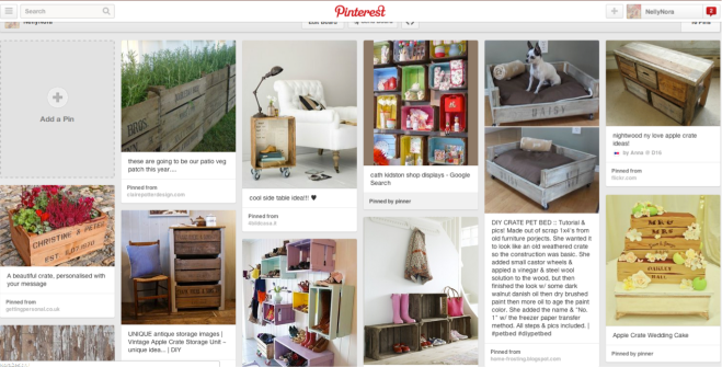 apple crates pintrest